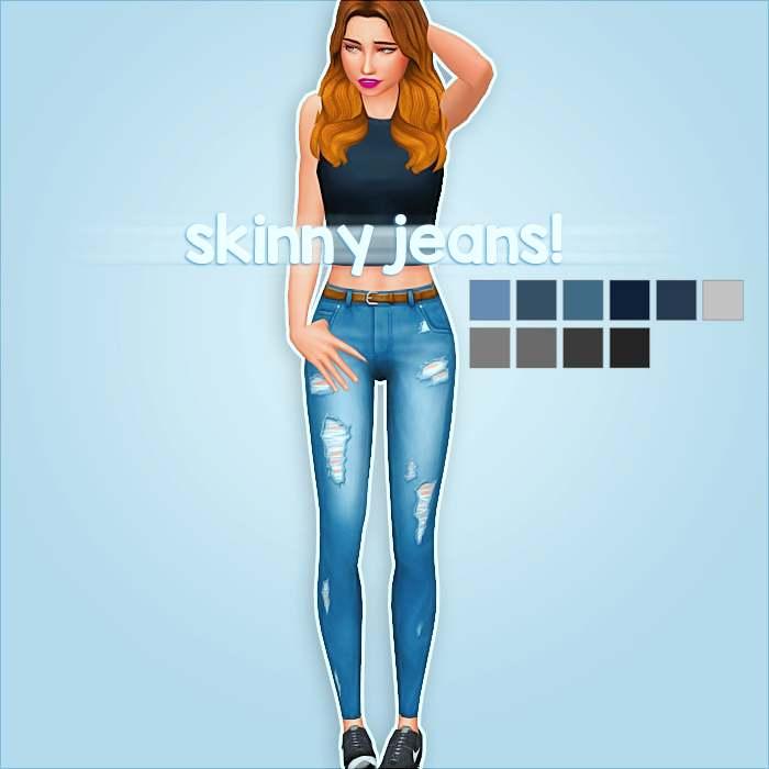 Стильные джинсы - skinny jeans