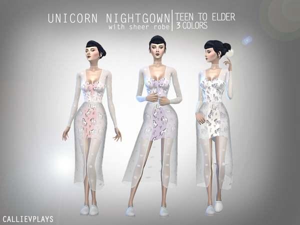 Пеньюар - Unicorn Nightgown