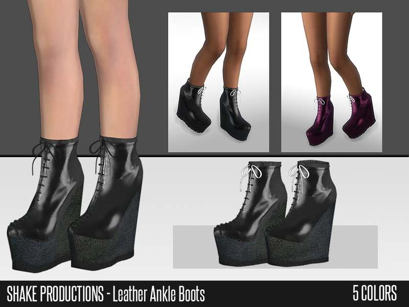 Ботильоны - Leather Ankle Boots