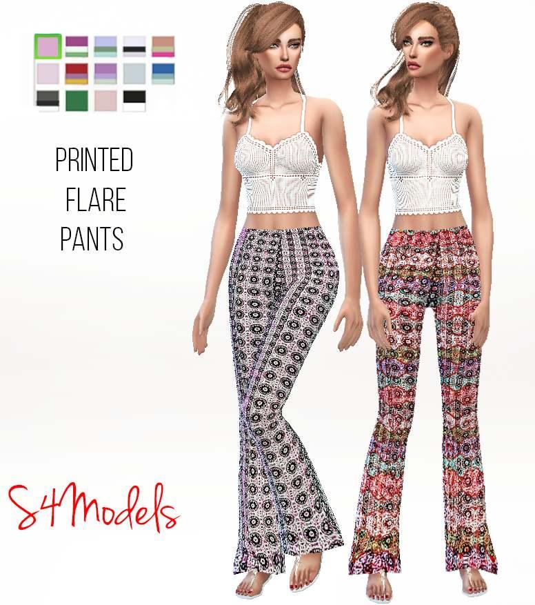 Штаны - Printed flare pants