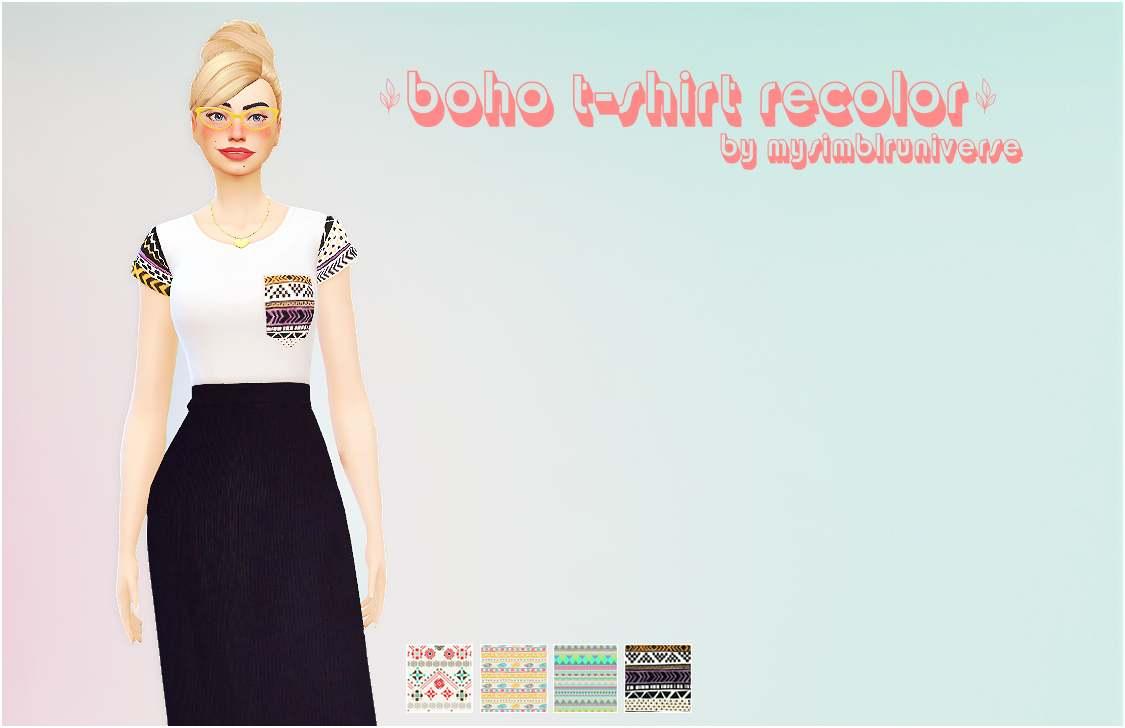 Женская футболка - Boho t-shirt recolor