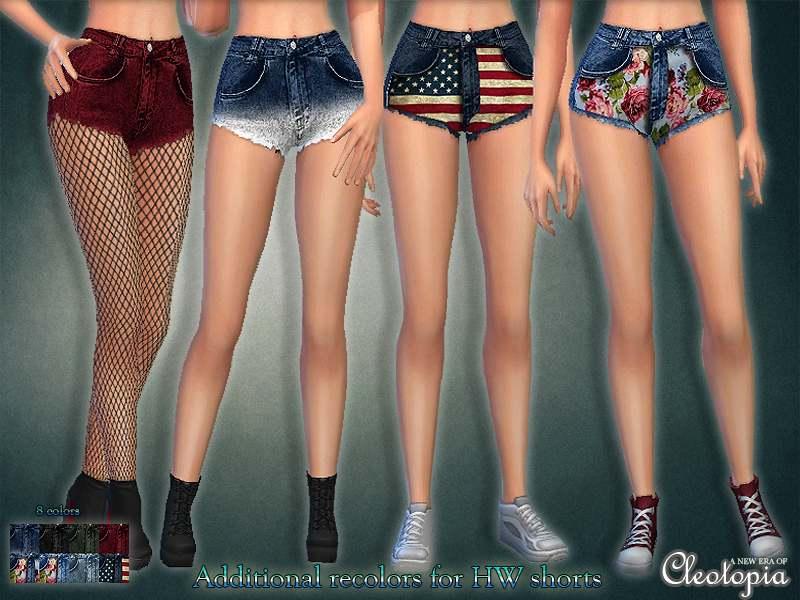 Шорты - High waisted Shorts with prints