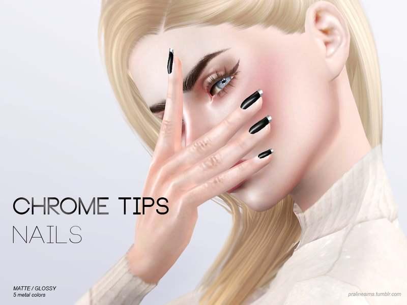 Маникюр - Chrome Tips Nails N15