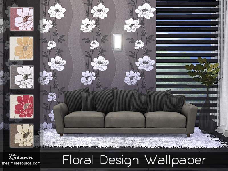 Обои - Floral Design Wallpaper