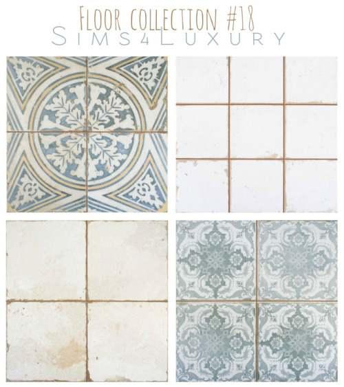 Набор напольных покрытий - Floor collection #18
