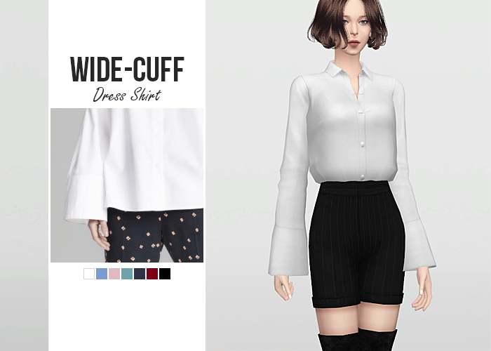 Рубашка - Wide-Cuff  Dress Shirt