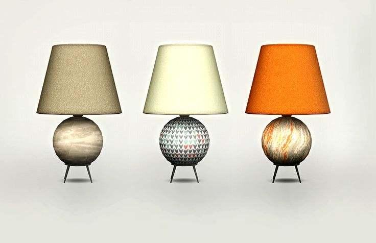 Настольная лампа - Awesims Mid Century Ball Lamp Fixed