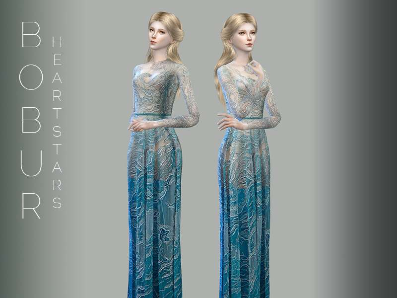 Платье - heart stars gown