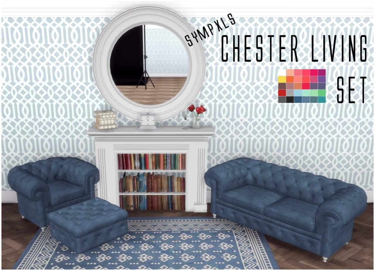 Набор мебели для гостиной - Sympxls Chester Living Set