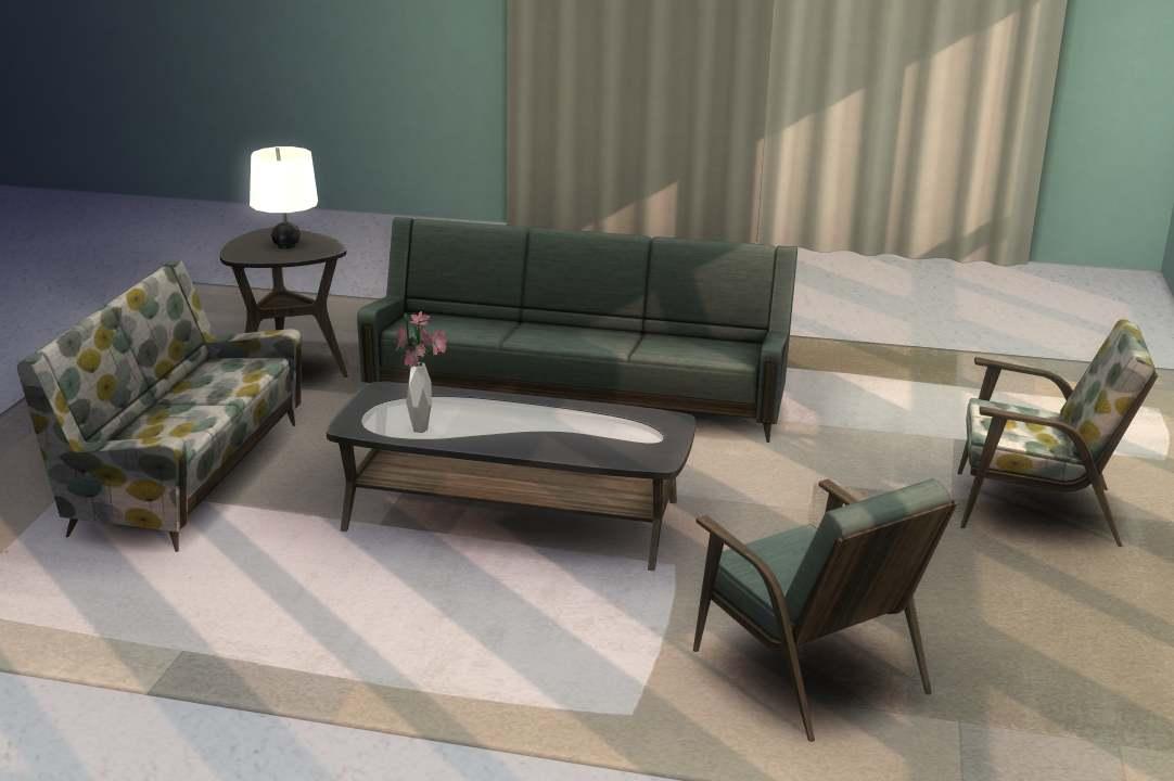 Гостиная - Sims 3 Store Mid-Century Set