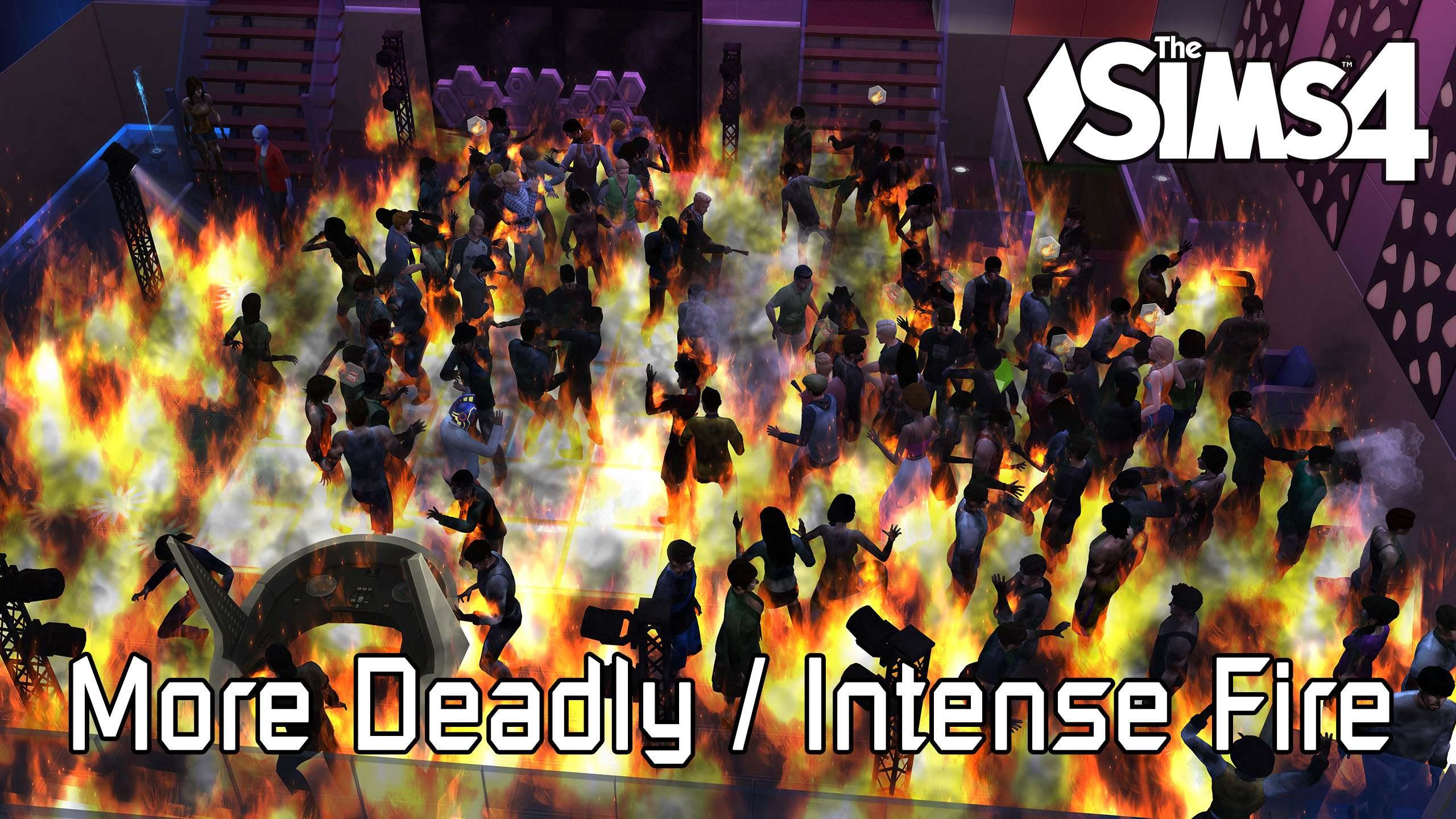 Мод - Яростный огонь - More Deadly/Intense Fire