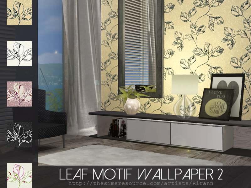 Обои - Leaf Motif Wallpaper 2