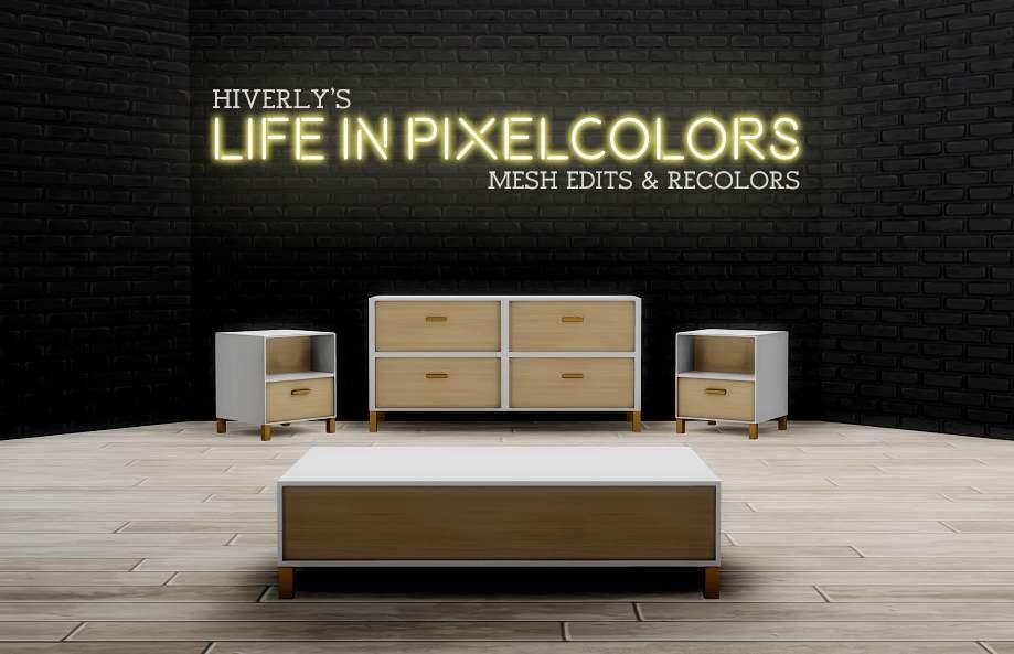 Набор мебели для гостиной - Life in Pixelcolors