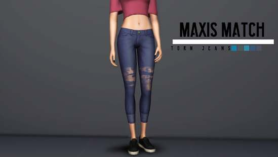 Джинсы - Maxis Match Torn Jeans