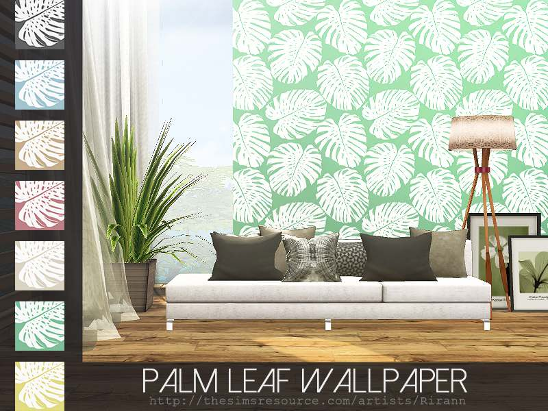 Обои - Palm Leaf Wallpaper