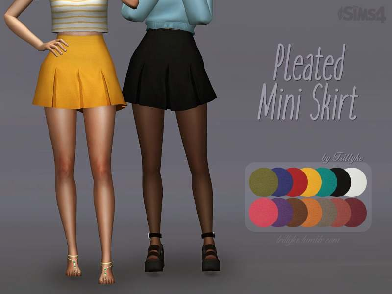 Юбка - Pleated Mini Skirt