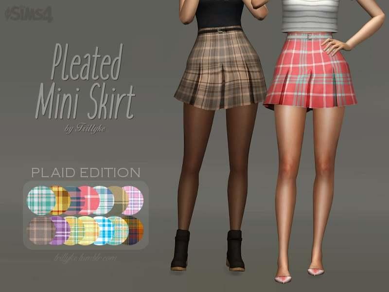Юбка - Pleated Mini Skirt (PLAID EDITION)