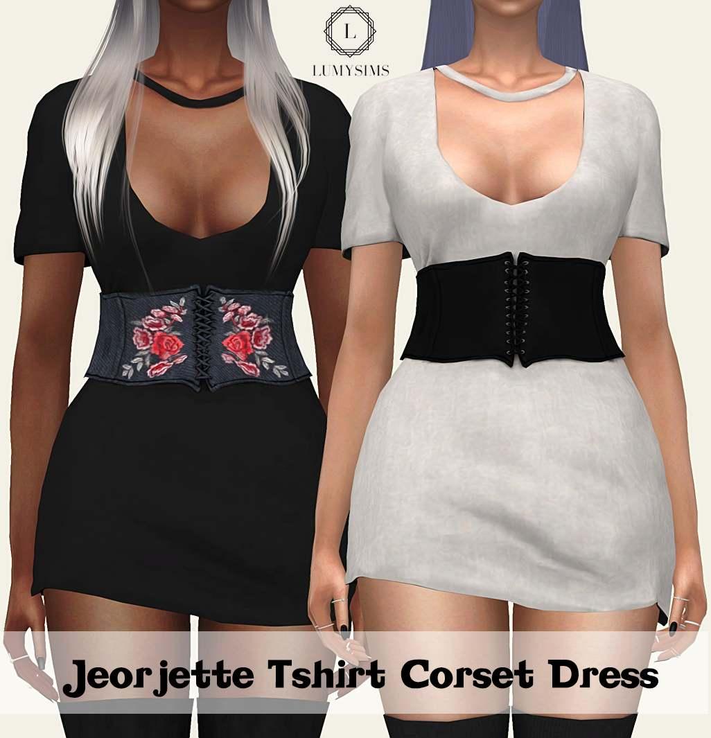 Платье - JEORJETTE TSHIRT CORSET DRESS