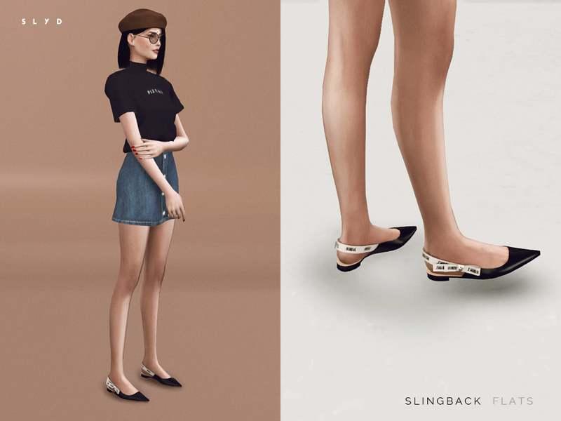 Балетки - Slingback Flats