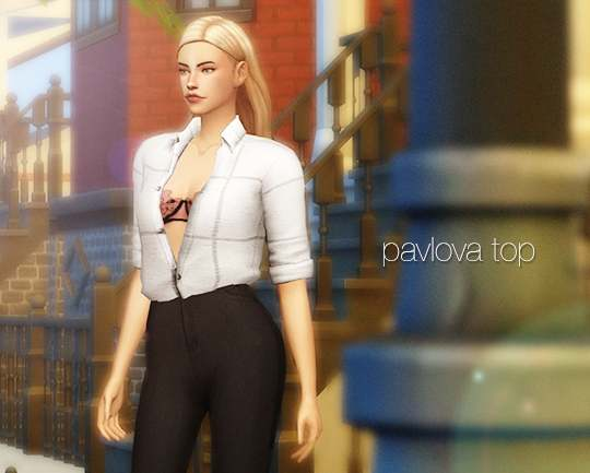 Рубашка - pavlova top