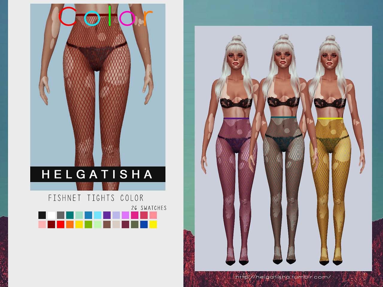 Колготки - Fishnet tights pack Color