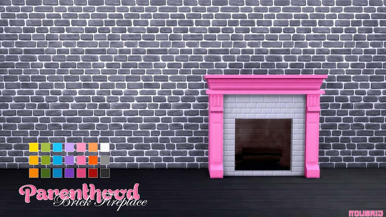 Камин - Parenthood Brick Fireplace