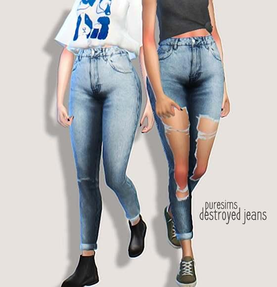 Джинсы - destroyed jeans