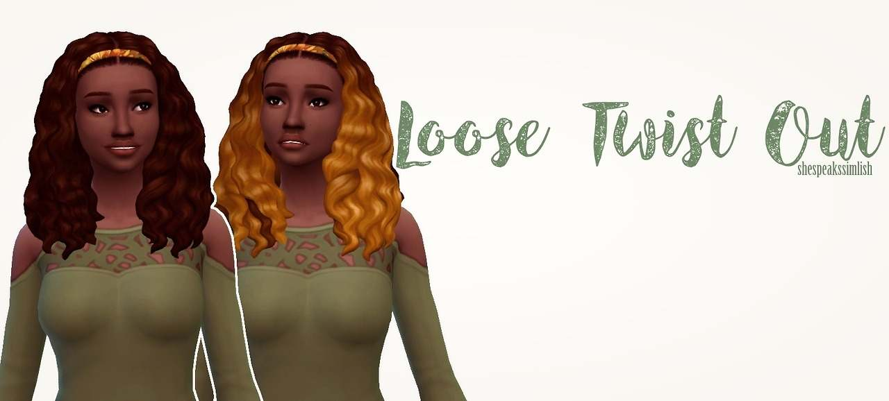 Прическа - Loose Twist Out