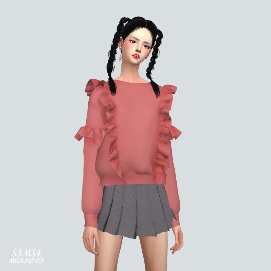 Джемпер - Frill Sweatshirt