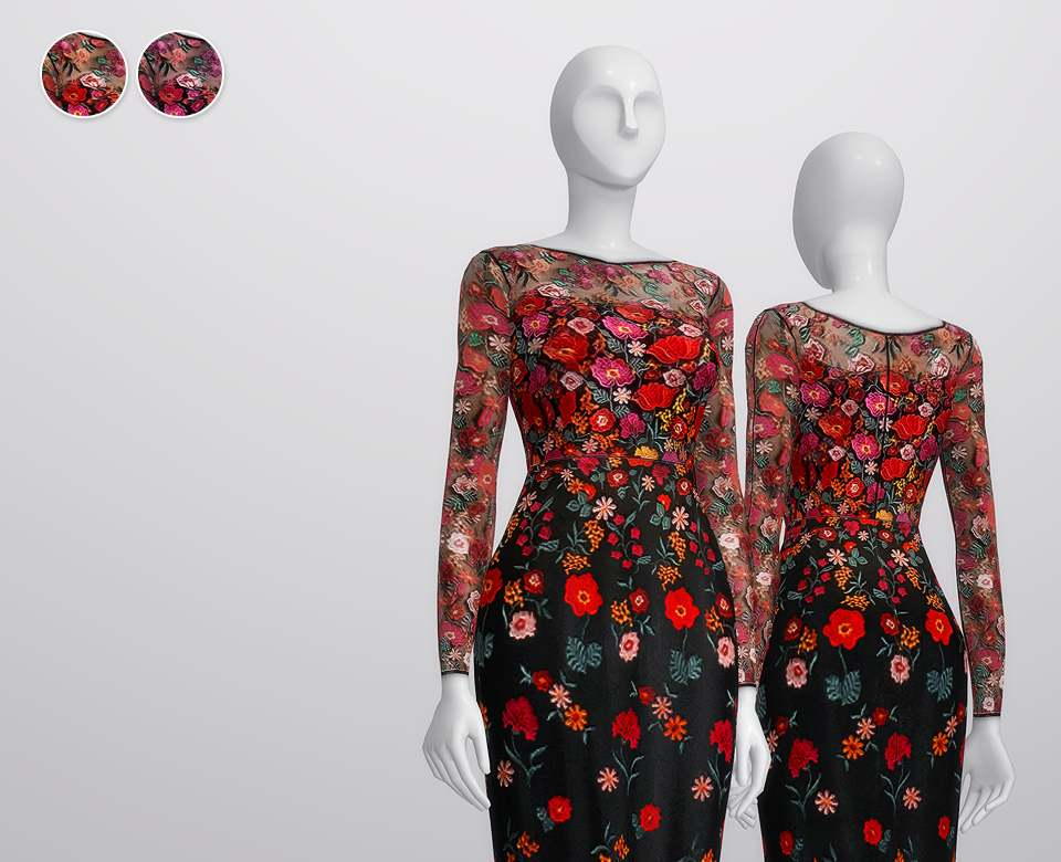 Платье - RED Appliqued embroidered tulle dress by Lela Rose
