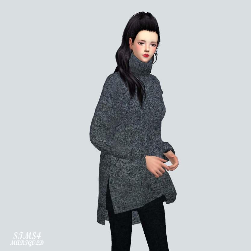 Свитер - Long Turtleneck Sweater