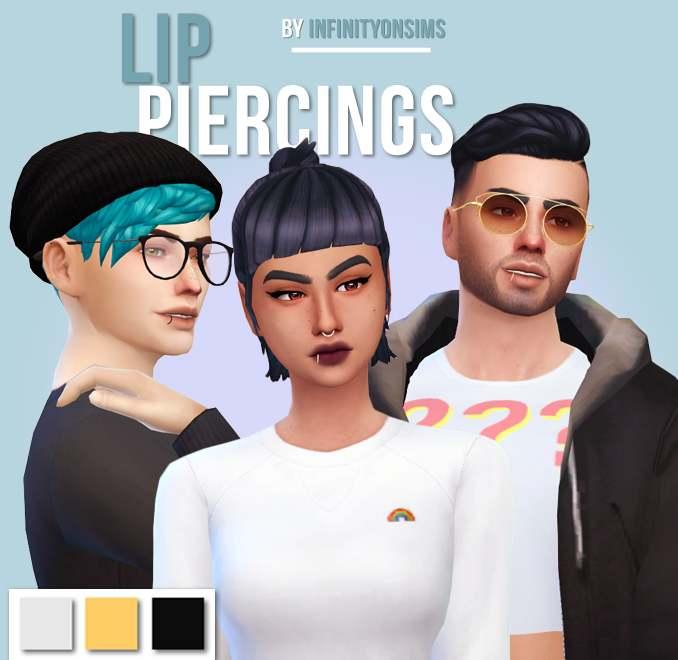 Пирсинг губы - lip rings