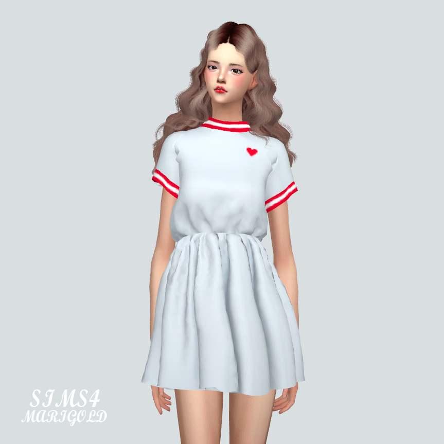 Платье - Heart Mini Dress