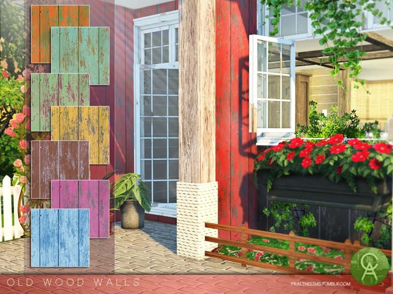 Настенное покрытие - Old Wood Walls