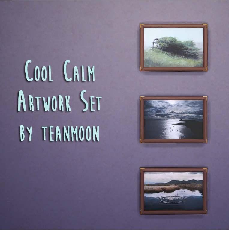Набор картин - Cool Calm Artwork Set