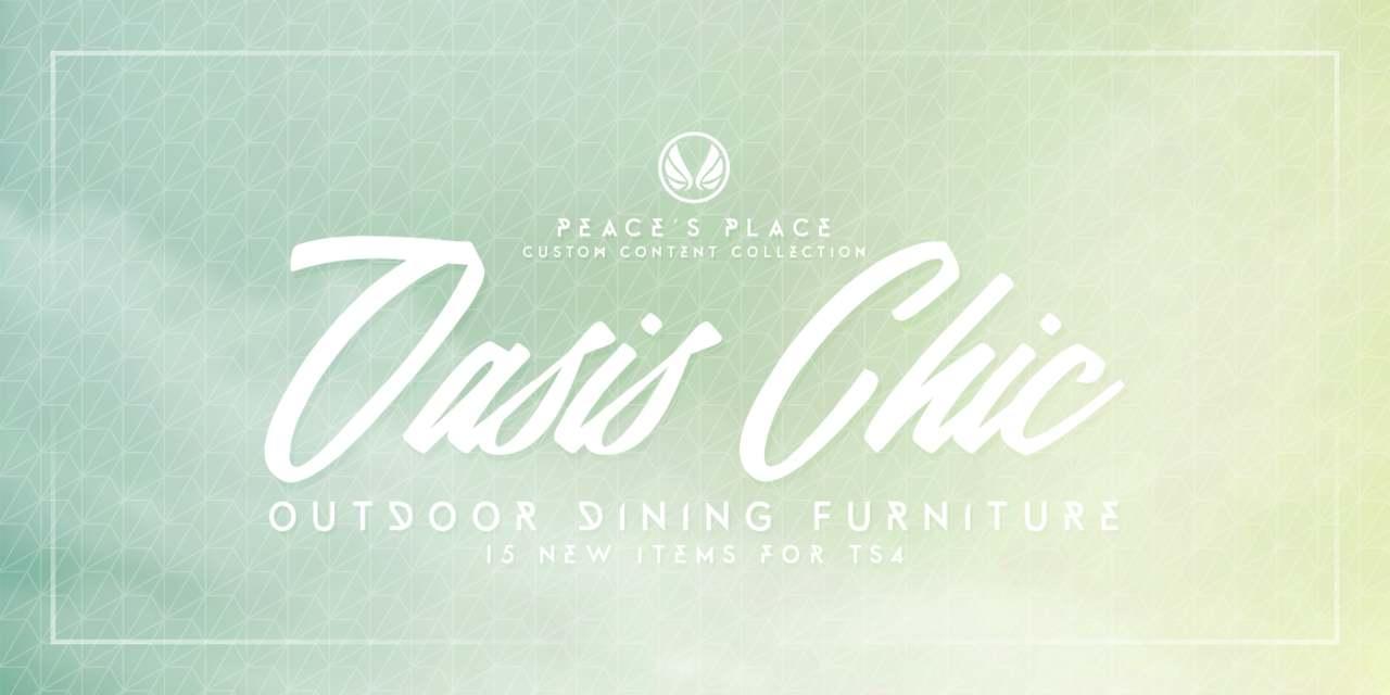 Набор для внутреннего дворика - Oasis-Chic Dining