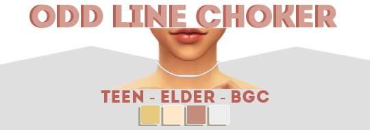 Чокер - Odd Line Choker