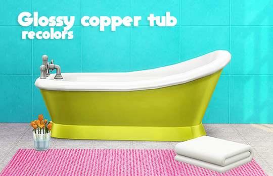 Ванна - glossy copper tub recolors