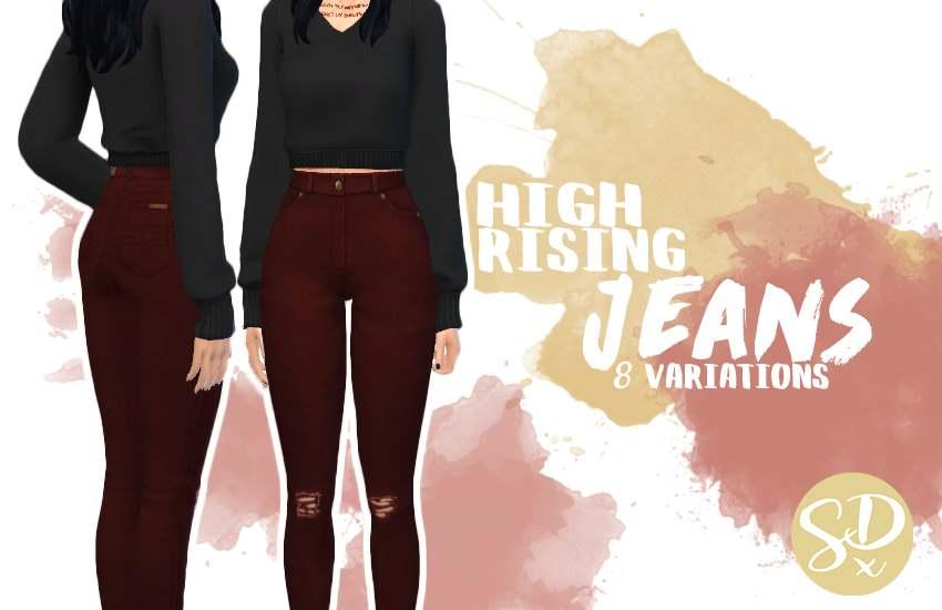Джинсы - High-Rise skinny jeans