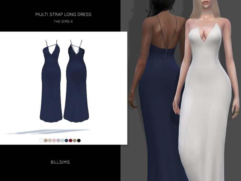 Платье - Multi Strap Long Dress