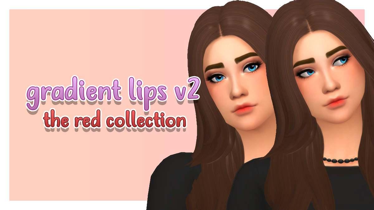 Тинт для губ - gradient lips v2 the red collection