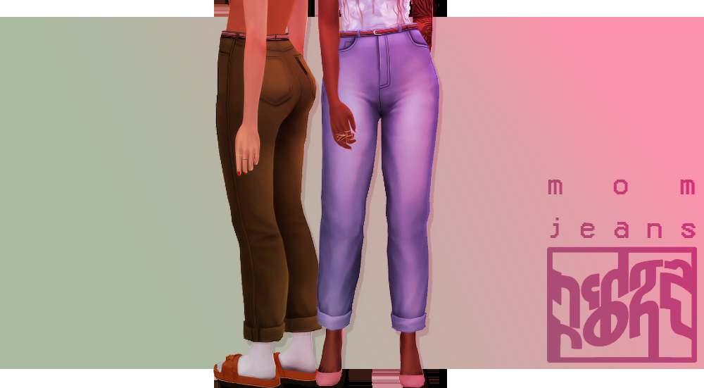 Джинсы - mom jeans