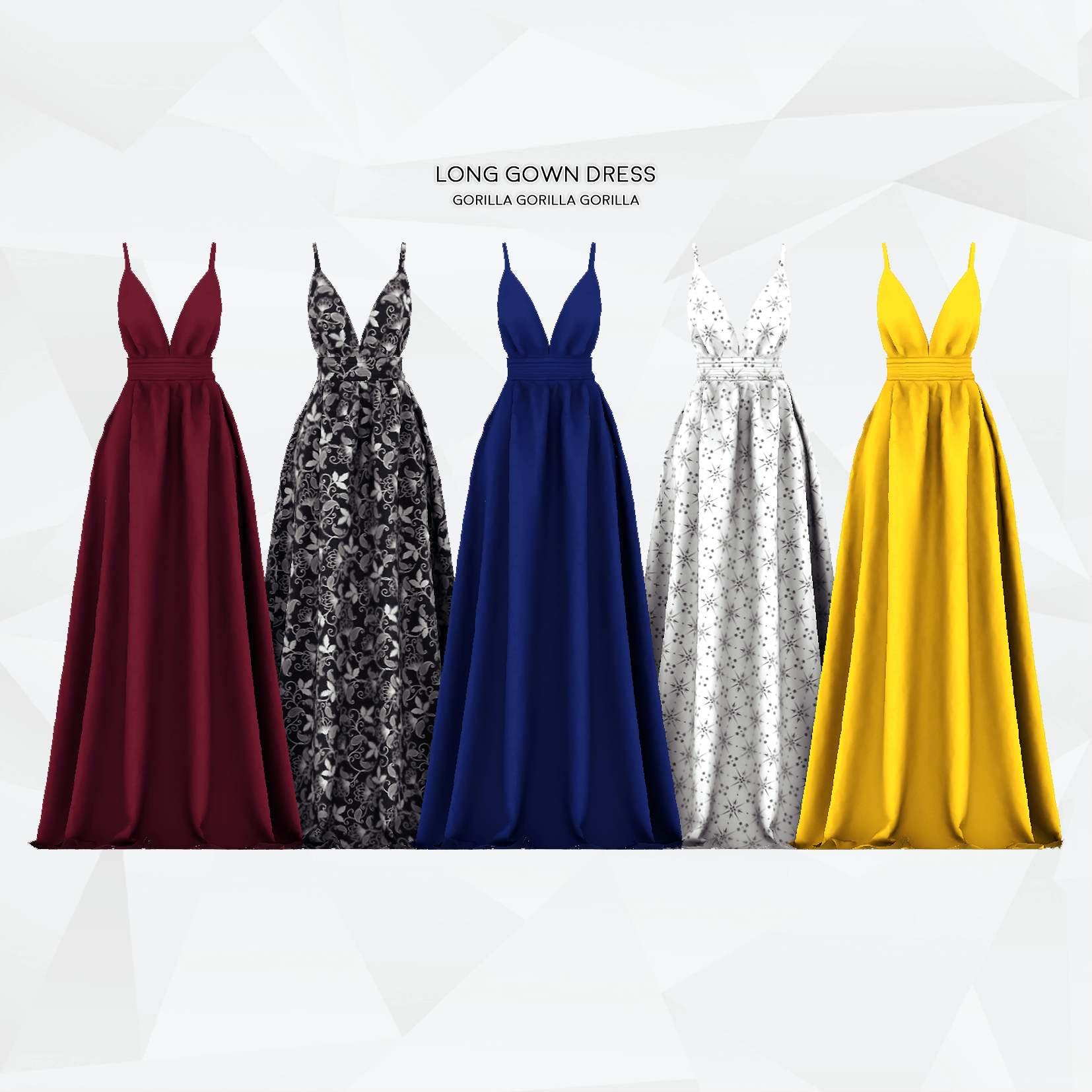 Платье - Long Gown Dress
