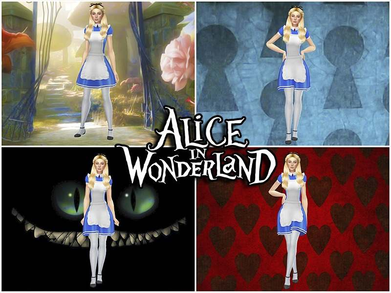 Набор фонов для CAS - Alice in Wonderland CAS Backgrounds