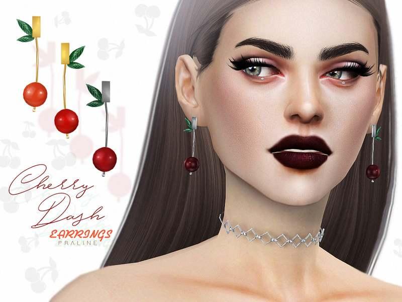Серьги - Cherry Dash Earrings