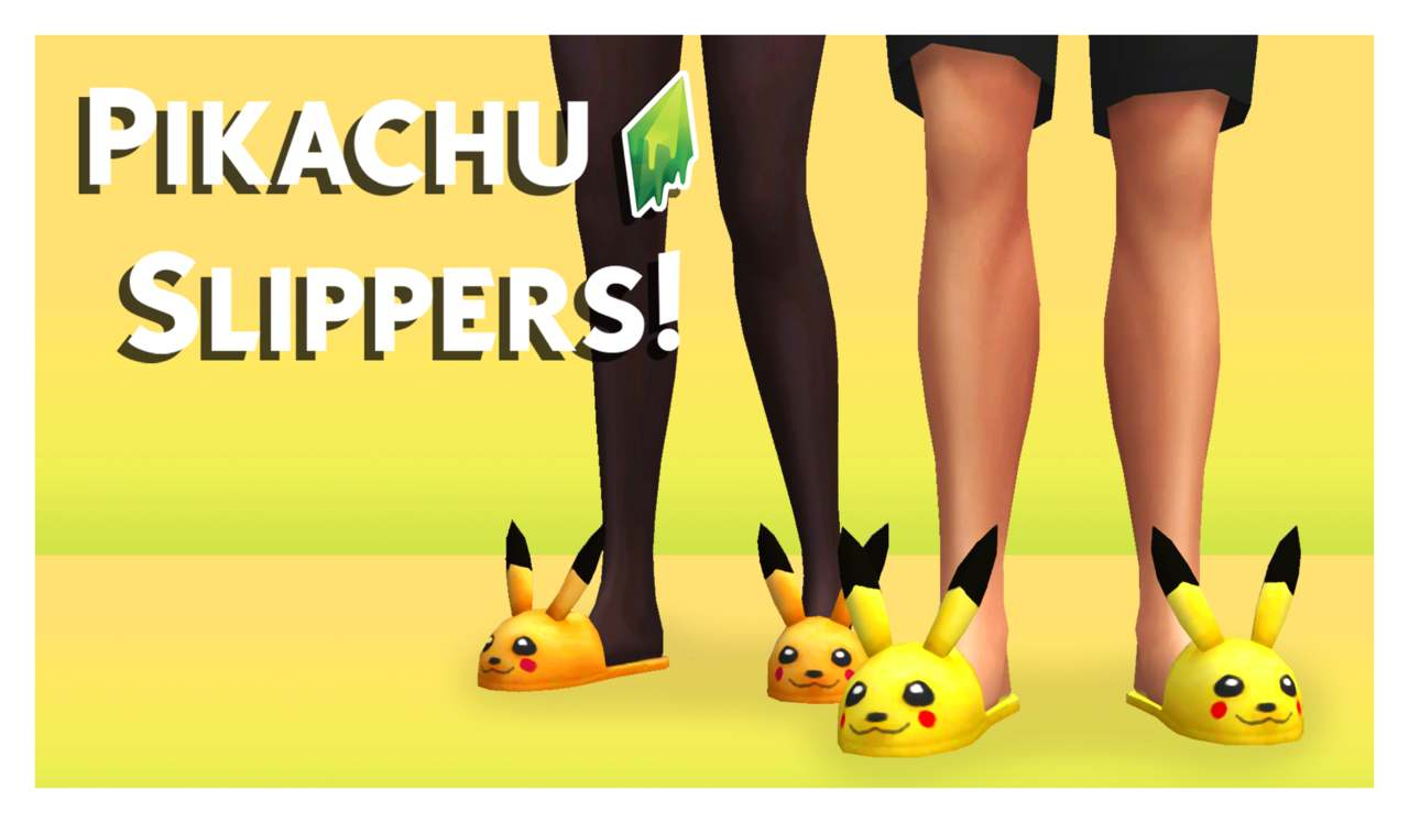 Тапочки - PIKACHU SLIPPERS (v. 2)