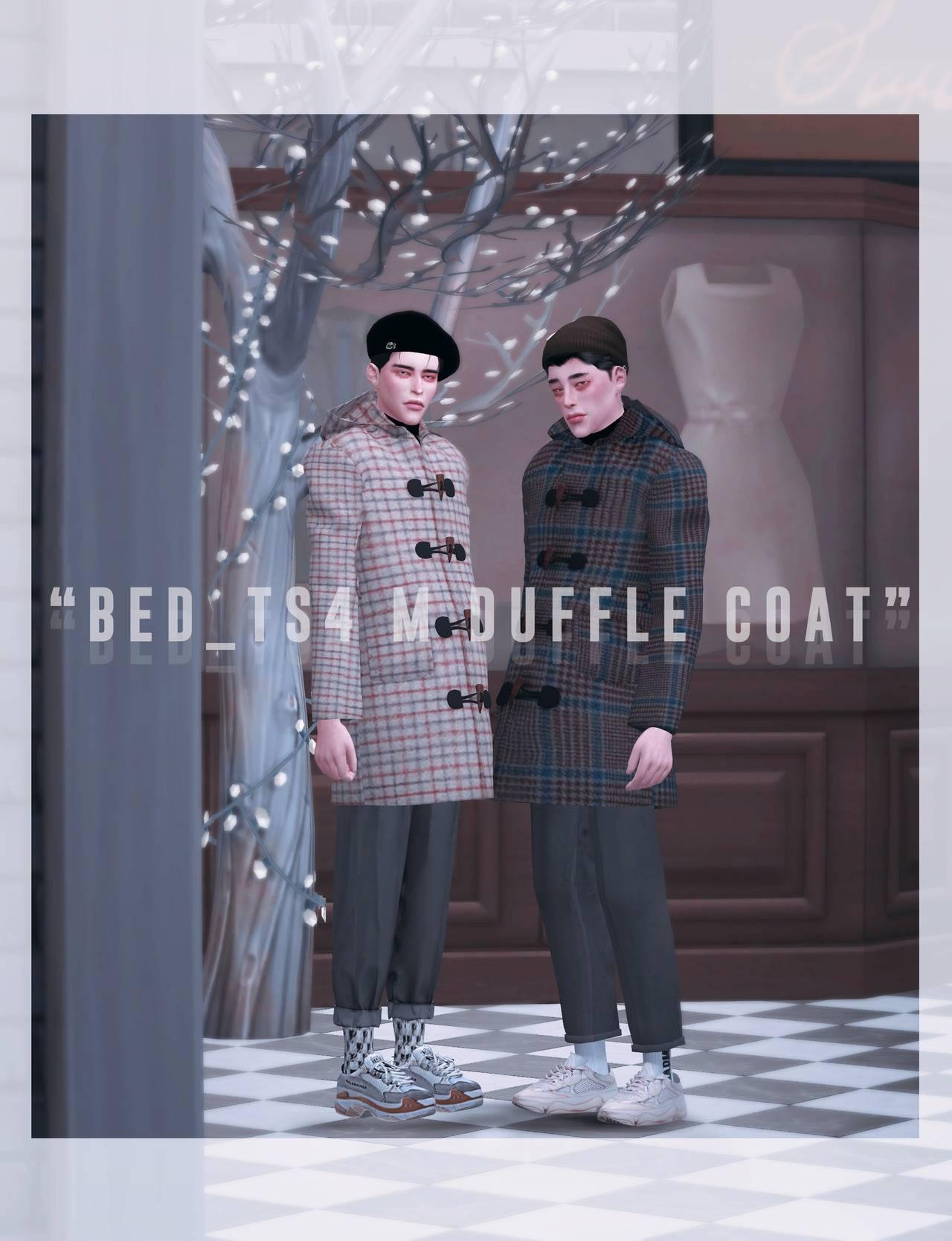Пальто - BED_TS4 M duffle coat