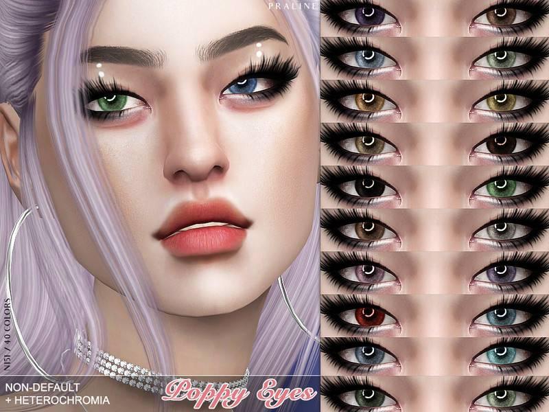 Глаза и линзы - Poppy Eyes N151 NON-DEFAULT + HETEROCHROMIA