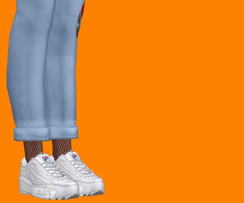 Кроссовки - cualquiere x semller fila disruptor shoes