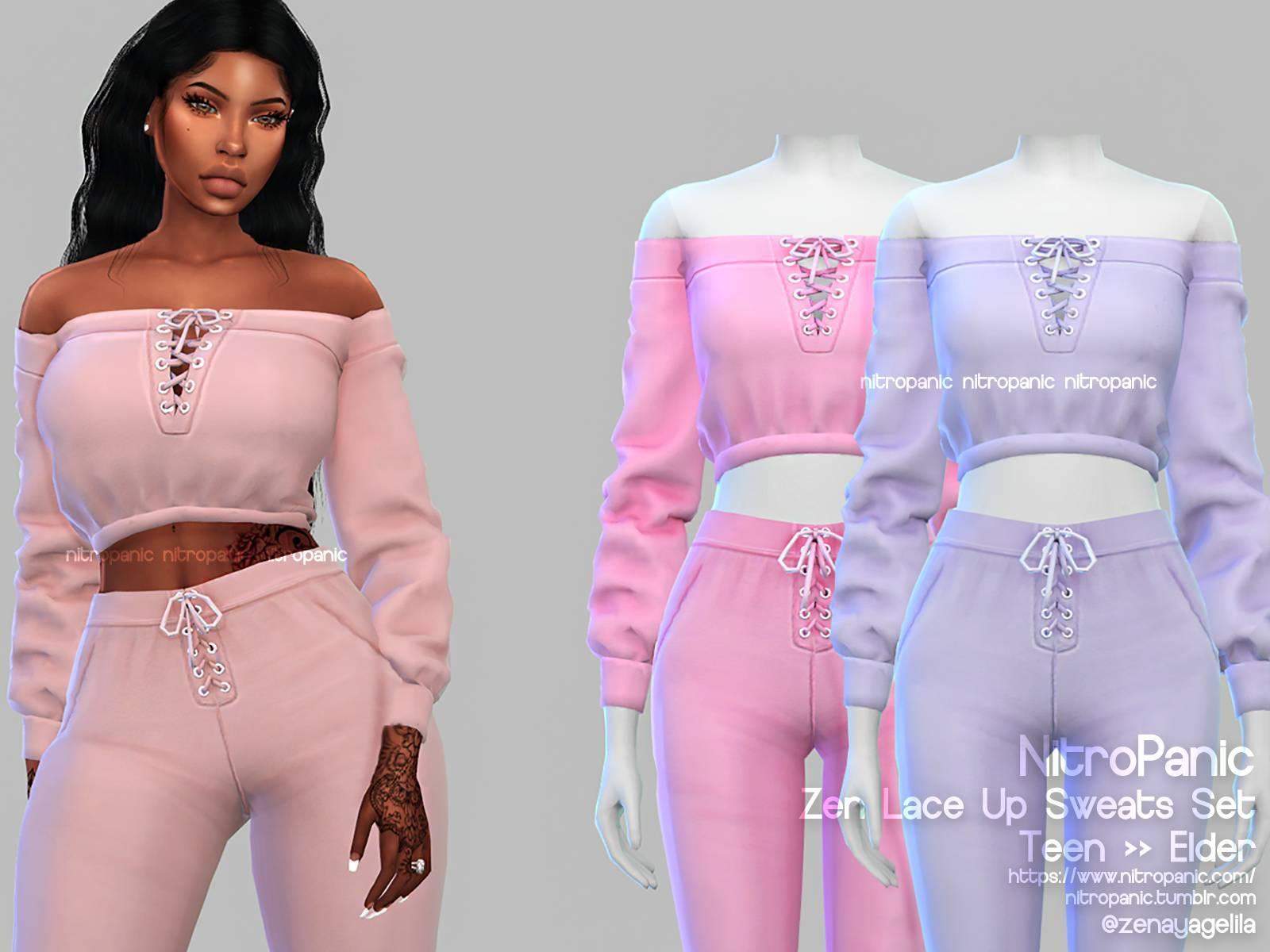 Комплект одежды - Zen's Lace Up Sweats Set